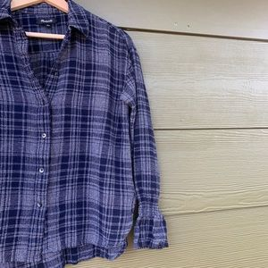 |MADEWELL| Long-sleeved Plaid Top